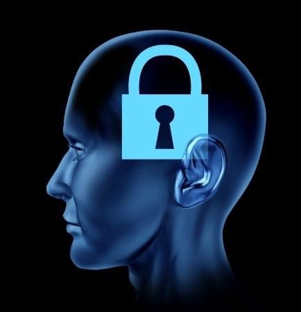 brain with padlock on it