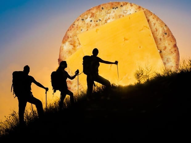 cheese and hikers