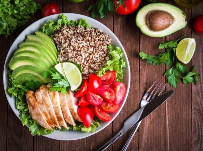 salad on table