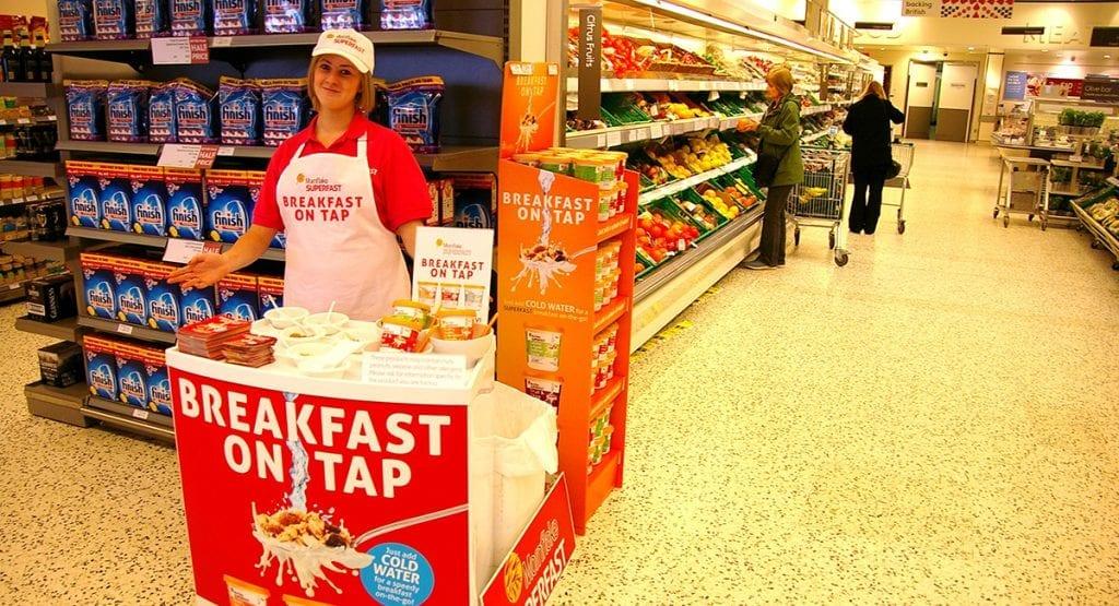 breakfast on tap in-store sampling