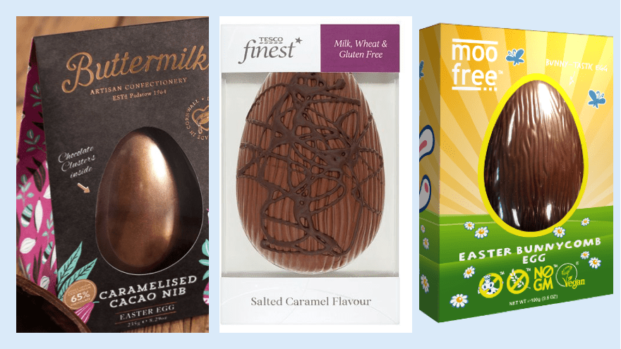 free from and vegan easter eggs