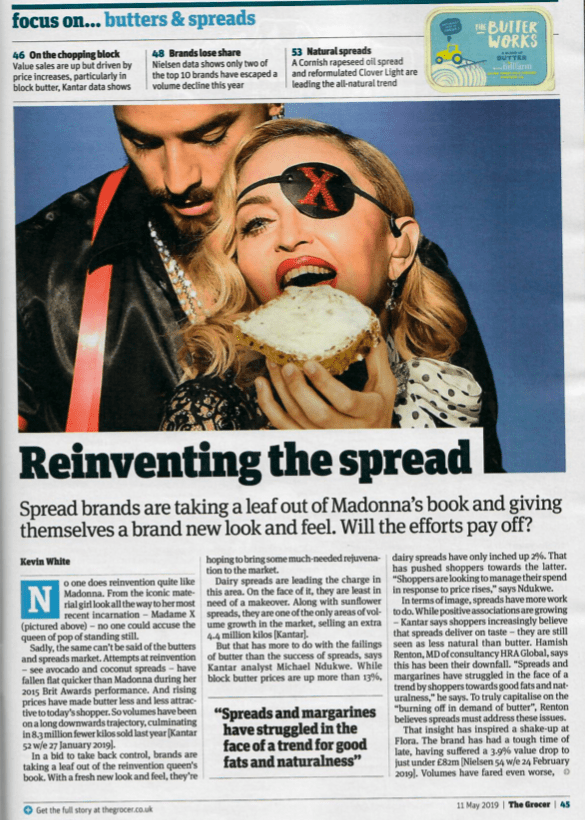 reinventing the spread newspaper article