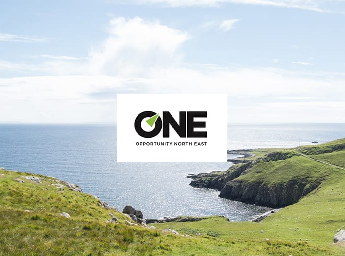 one opportunity north east logo and coastline