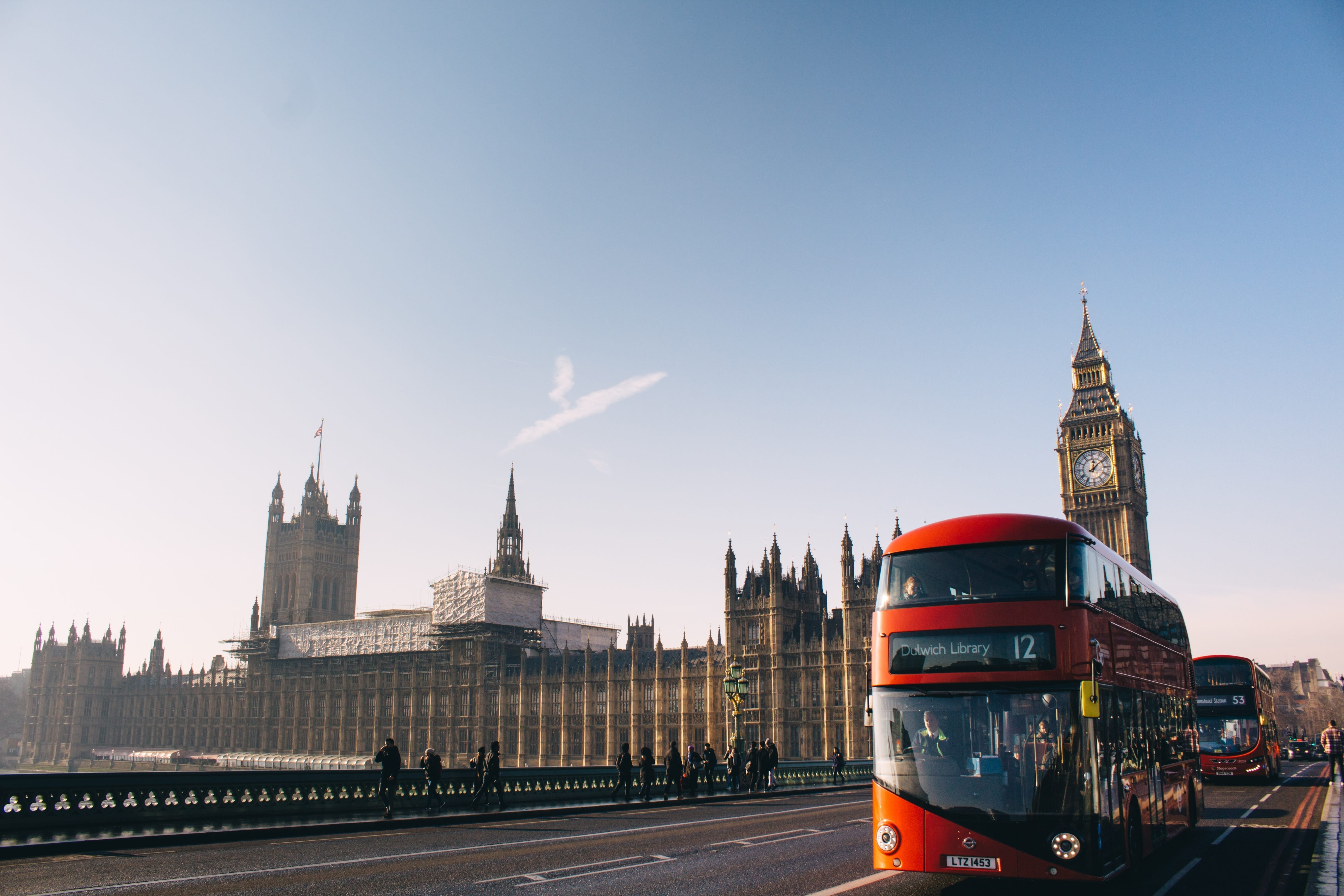 london bus and attractions