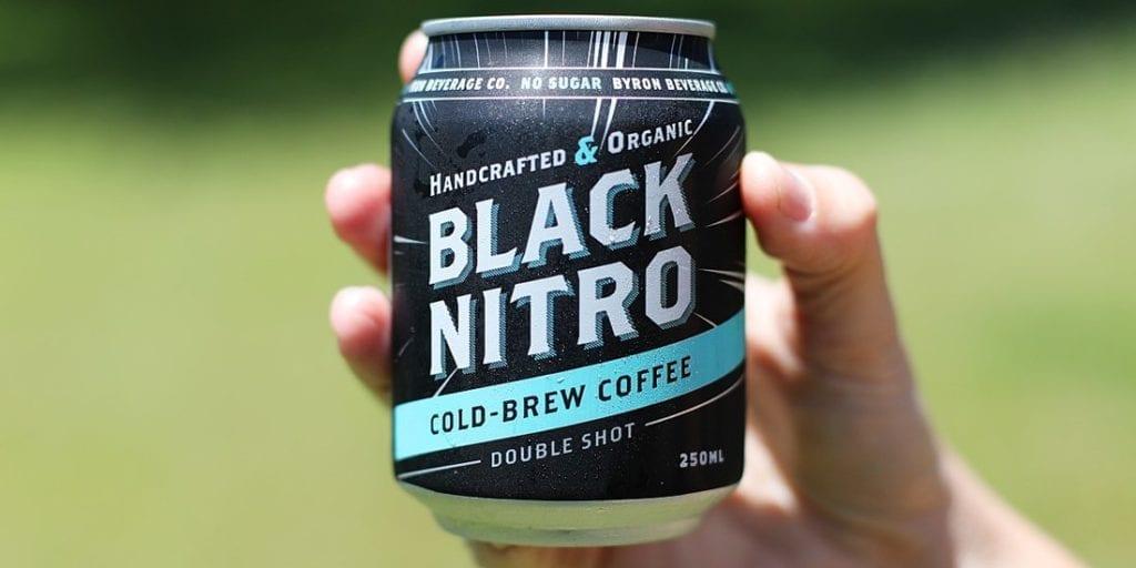 black nitro cold coffee can