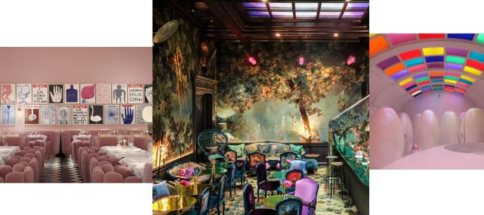 modern decor of trendy restaurants