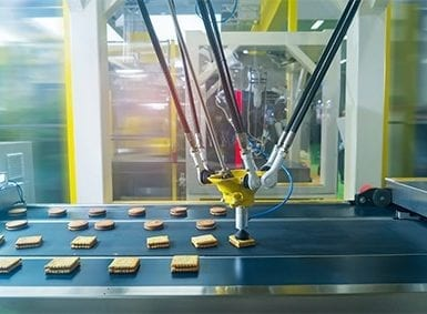 food production and packaging line