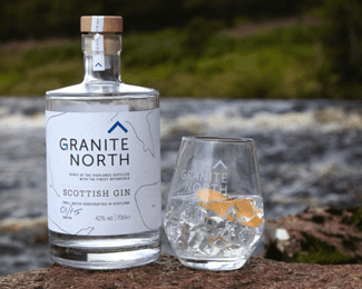 granite north gin bottle