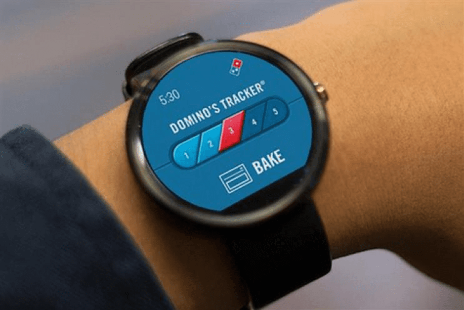 dominos watch tracker