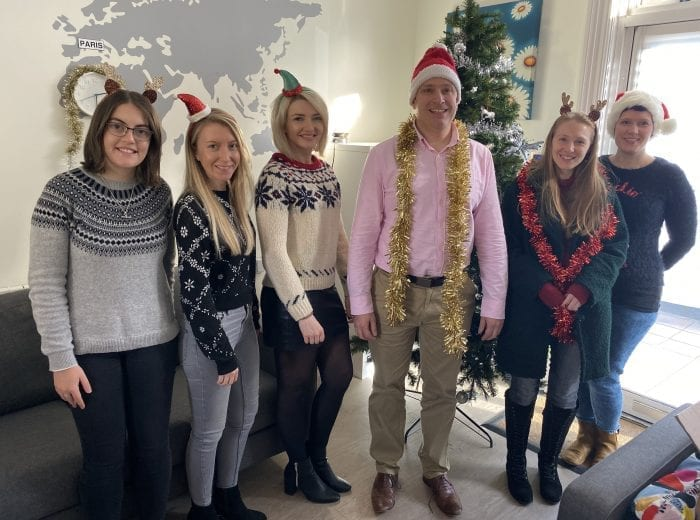 hra global team at christmas
