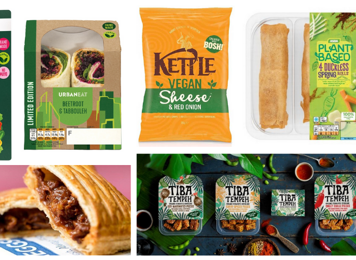 collage of vegan foods