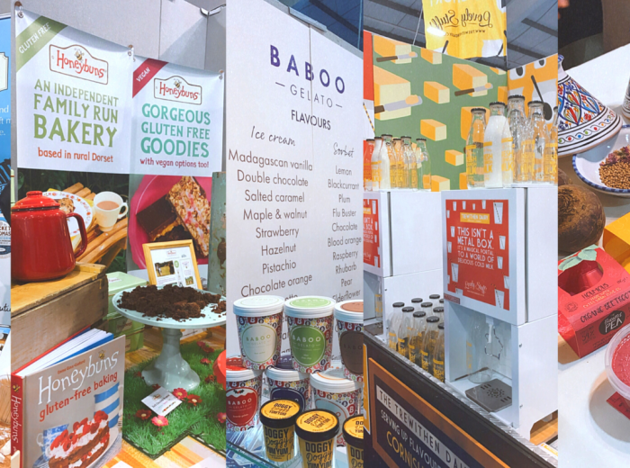 food products at trade show in Exeter