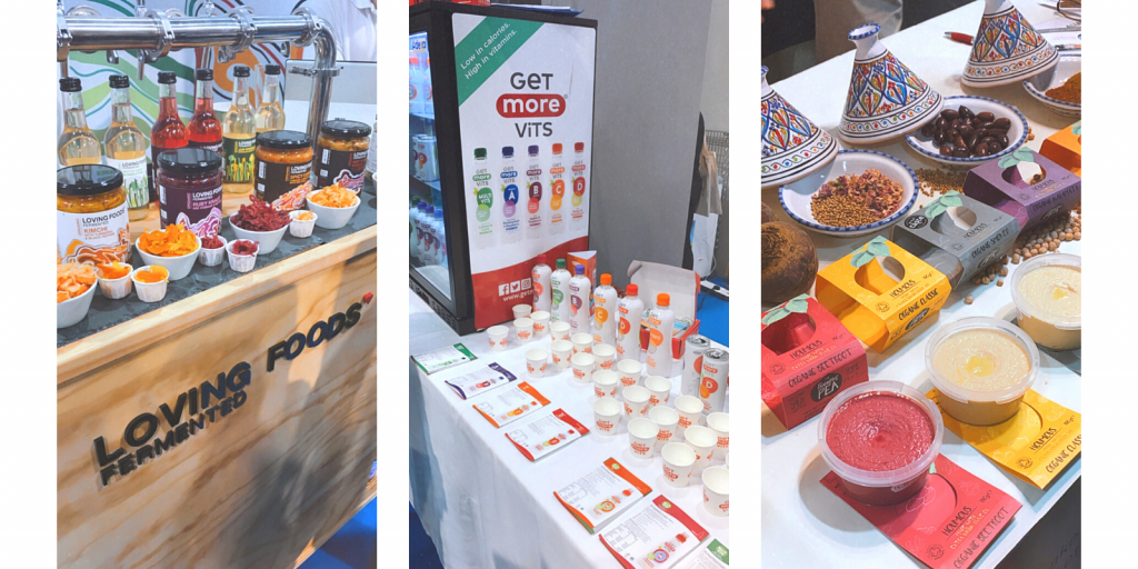 healthy food products at trade show