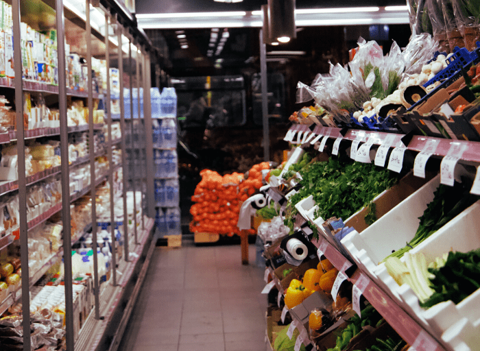 stocked supermarket