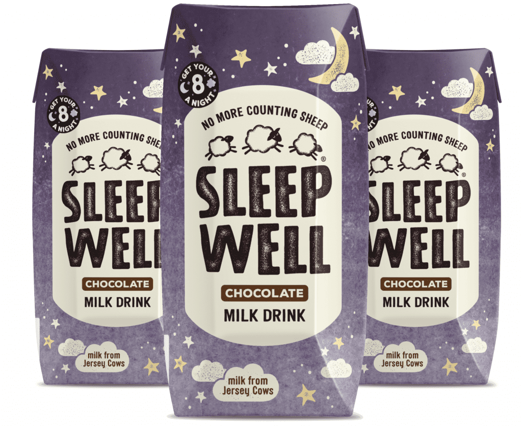 sleep well chocolate milk drink