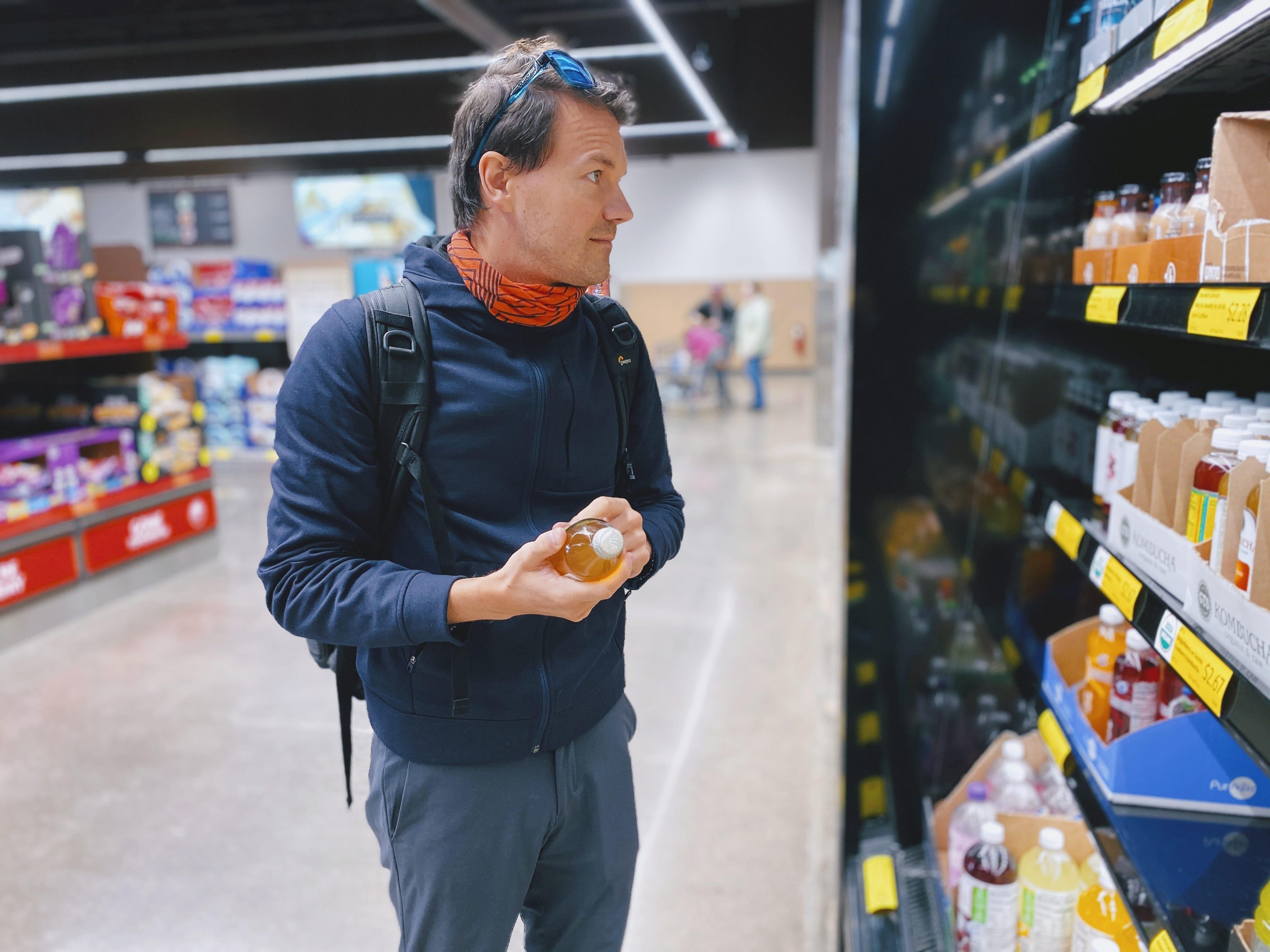 shopper in supermarket