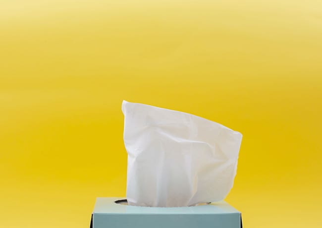 box of disposable tissues