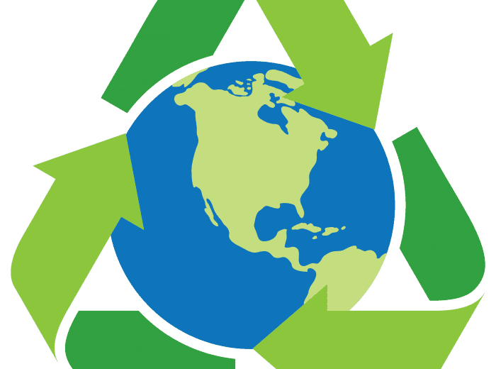 recyclable world icon